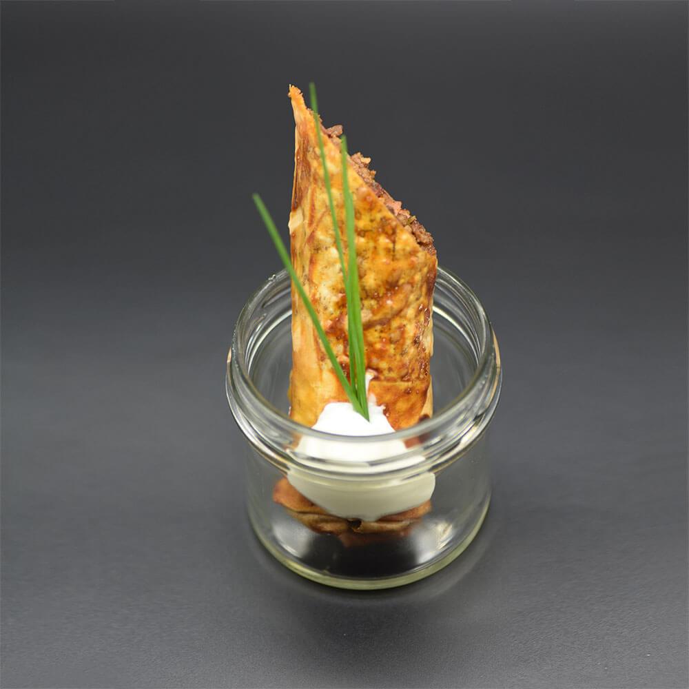 Catering: Häppchen im Glas